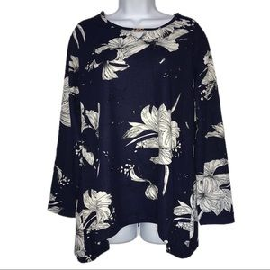 NWOT Victoria Stretch Floral Top XL/ 1X